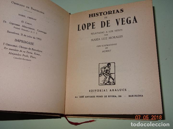 Libros de segunda mano: HISTORIAS DE LOPE DE VEGA Relatadas a los Niños- Colección ARALUCE - Año 1962 - Foto 4 - 120394987