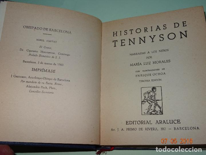 Libros de segunda mano: HISTORIAS DE TENNYSON Narradas a los Niños- Colección ARALUCE - Año 1960 - Foto 4 - 120395419