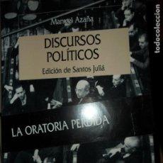 Libros de segunda mano: DISCURSOS POLÍTICOS, MANUEL AZAÑA, ED. CRÍTICA. Lote 120444815