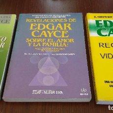 Libros de segunda mano: LOTE 3 LIBROS EDGAR GAYCE. Lote 120531179