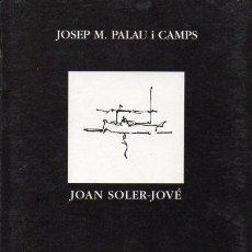 Libros de segunda mano: PALAU I CAMPS / SOLER JOVÉ : ESPAI DE DIBUIXOS (1995). Lote 120547379