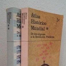 Libros de segunda mano: KINDER, HERMANN; HILGMANN, WERNER: ATLAS HISTÓRICO MUNDÍAL (2 VOLS.) (ISTMO) (LB). Lote 120656415