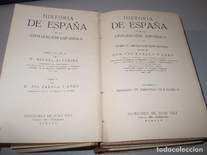 Libros de segunda mano: Historia de España, Edad Contemporánea, 1808-1923, Pío Zabala, Dos tomos. Suc. Juan Gili 1.930 - Foto 3 - 120678411