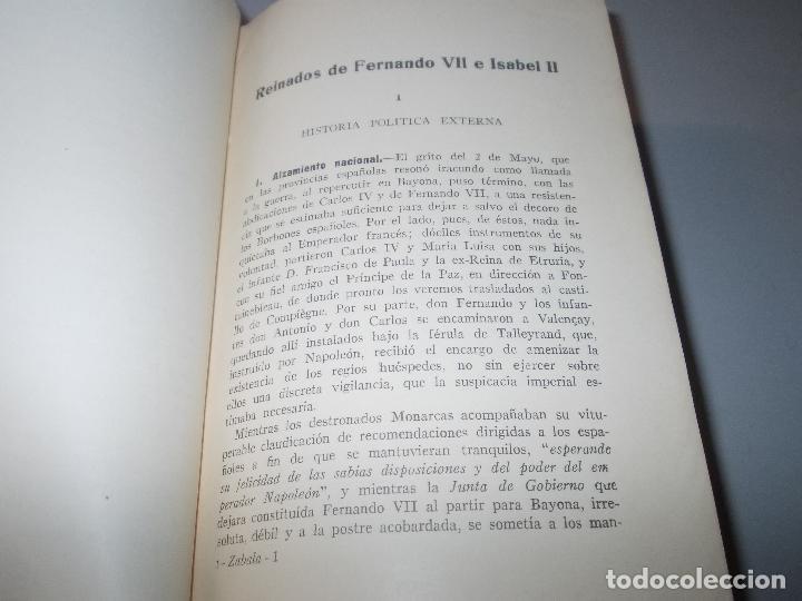 Libros de segunda mano: Historia de España, Edad Contemporánea, 1808-1923, Pío Zabala, Dos tomos. Suc. Juan Gili 1.930 - Foto 5 - 120678411
