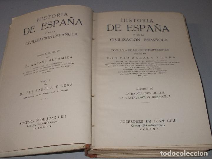 Libros de segunda mano: Historia de España, Edad Contemporánea, 1808-1923, Pío Zabala, Dos tomos. Suc. Juan Gili 1.930 - Foto 22 - 120678411
