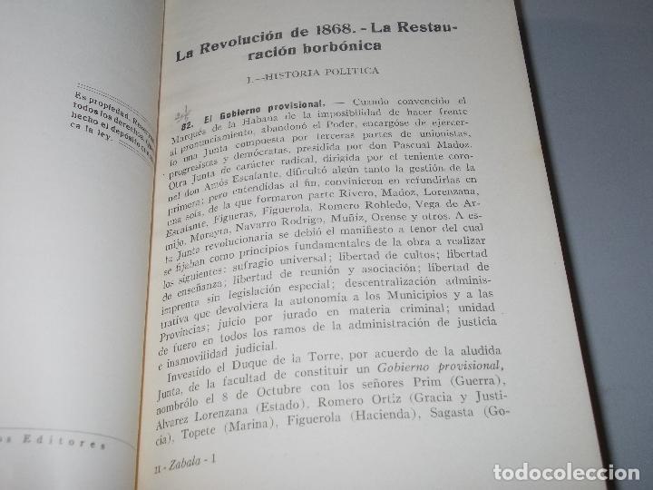 Libros de segunda mano: Historia de España, Edad Contemporánea, 1808-1923, Pío Zabala, Dos tomos. Suc. Juan Gili 1.930 - Foto 24 - 120678411