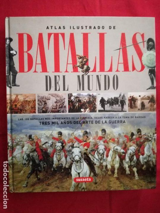 ATLAS ILUSTRADO DE BATALLAS DEL MUNDO. SUSAETA. (Libros de Segunda Mano - Historia - Otros)