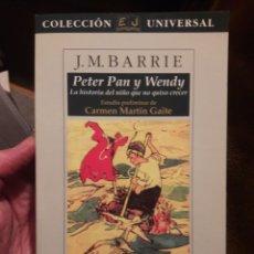 Libros de segunda mano: PETER PAN Y WENDY LA HISTORIA DEL NIÑO QUE NO QUISO CRECER. ED JUVENTUD 1994. Lote 120979868