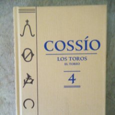 Libros de segunda mano: COSSÍO / LOS TOROS. EL TOREO. VOL., 4.. Lote 121035547