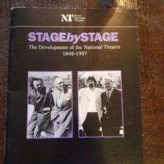 Libros de segunda mano: STAGE BY STAGE 1848-1997. PROGRAMA DE LA EXPOSICIÓN NATIONAL THEATRE DE LONDRES. EN INGLÉS. Lote 121091415