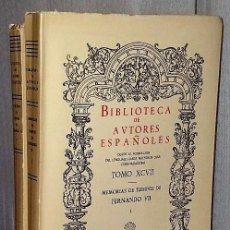 Libros de segunda mano: MEMORIAS DE TIEMPOS DE FERNANDO VII.(2 TOMOS). Lote 121193719