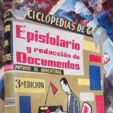 Libros de segunda mano: EPÌSTOLARIO Y REDACCIÓN DE DOCUMENTOS, ANTONIO DE ARMENTERA. Lote 121231855