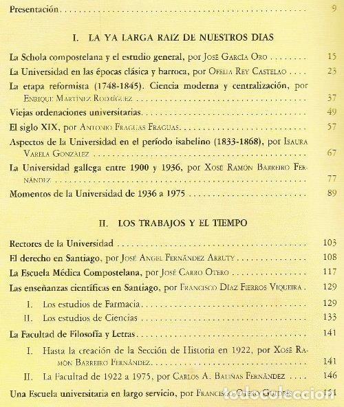 Libros de segunda mano: B310 - LA UNIVERSIDAD DE SANTIAGO. MANUEL C. DIAZ Y DIAZ. (COORD.). GALICIA. - Foto 8 - 121345203