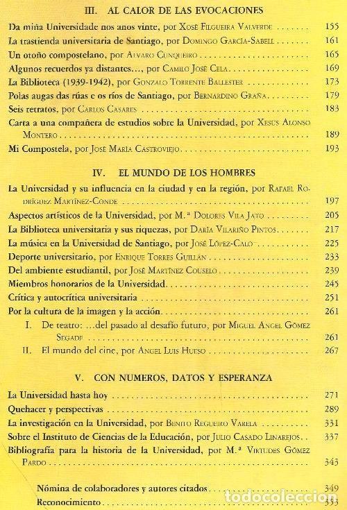 Libros de segunda mano: B310 - LA UNIVERSIDAD DE SANTIAGO. MANUEL C. DIAZ Y DIAZ. (COORD.). GALICIA. - Foto 9 - 121345203