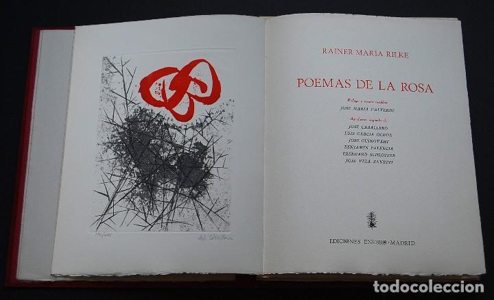 POEMAS DE LA ROSA. POEMAS DE RAINER MARIA RILKE Y GRABADOS DE ARTISTAS DE PRIMERA LINEA. (Libros de Segunda Mano - Bellas artes, ocio y coleccionismo - Otros)