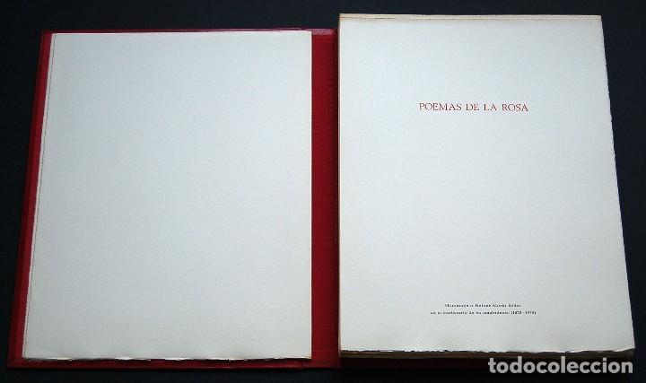 Libros de segunda mano: POEMAS DE LA ROSA. Poemas de Rainer Maria Rilke y grabados de artistas de primera linea. - Foto 2 - 121419523