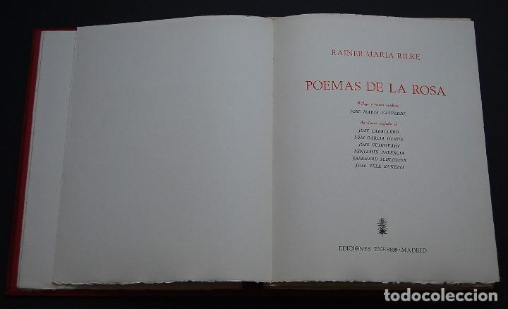 Libros de segunda mano: POEMAS DE LA ROSA. Poemas de Rainer Maria Rilke y grabados de artistas de primera linea. - Foto 3 - 121419523