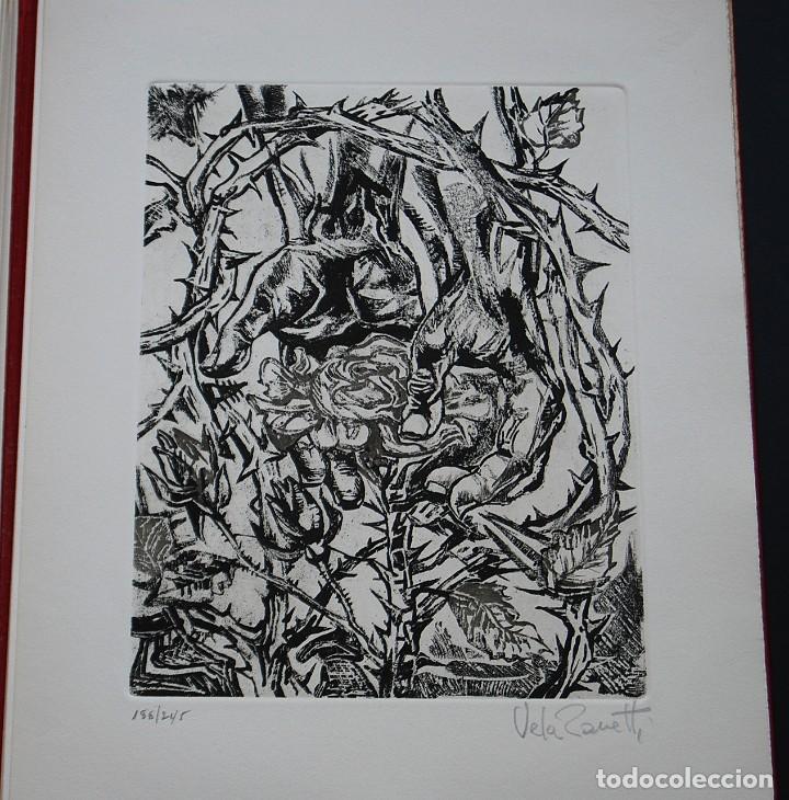 Libros de segunda mano: POEMAS DE LA ROSA. Poemas de Rainer Maria Rilke y grabados de artistas de primera linea. - Foto 31 - 121419523