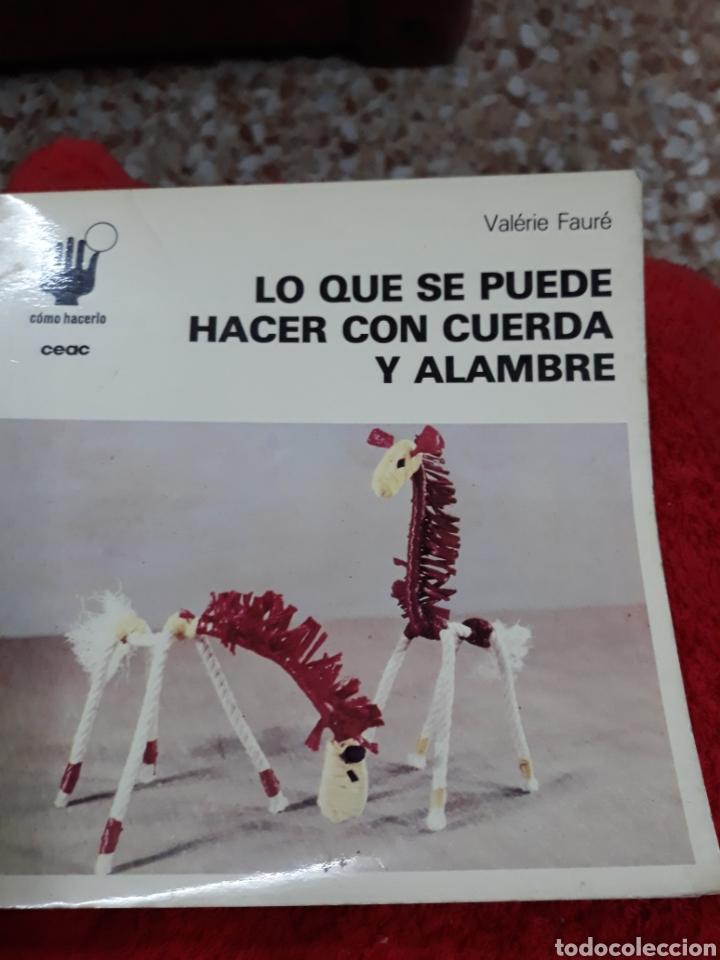 LIBRO:COMO HACERLO Nº 12.- LO QUE SE PUEDE HACER CON CUERDA Y ALAMBRE (Libros de Segunda Mano - Bellas artes, ocio y coleccionismo - Otros)