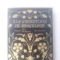 Libros de segunda mano: ELS CEMENTIRIS DE BARCELONA. CARME RIERA Y COLITA. EDHASA. Lote 121721795
