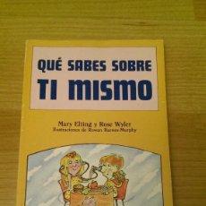 Libros de segunda mano: LIBRO JUVENIL «QUÉ SABES SOBRE TI MISMO?. Lote 121729631