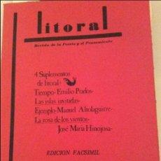 Libros de segunda mano: LITORAL 94-95-96. Lote 121811731