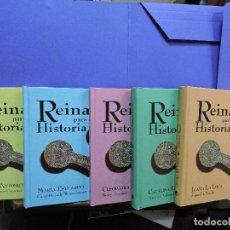 Libros de segunda mano: JUANA LA LOCA/ CATALINA LA GRANDE/ CLEOPATRA/ MARÍA ESTUARDO/ MARÍA ANTONIETA. COL. REINAS PARA LA H. Lote 121858715