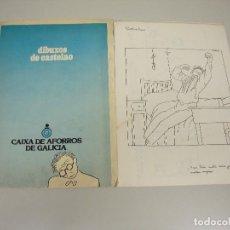Libros de segunda mano: 1018- 12 DIBUXOS DE CASTELAO CAIXA DE AFORROS DE GALICIA AÑOS 70/80. Lote 121875791
