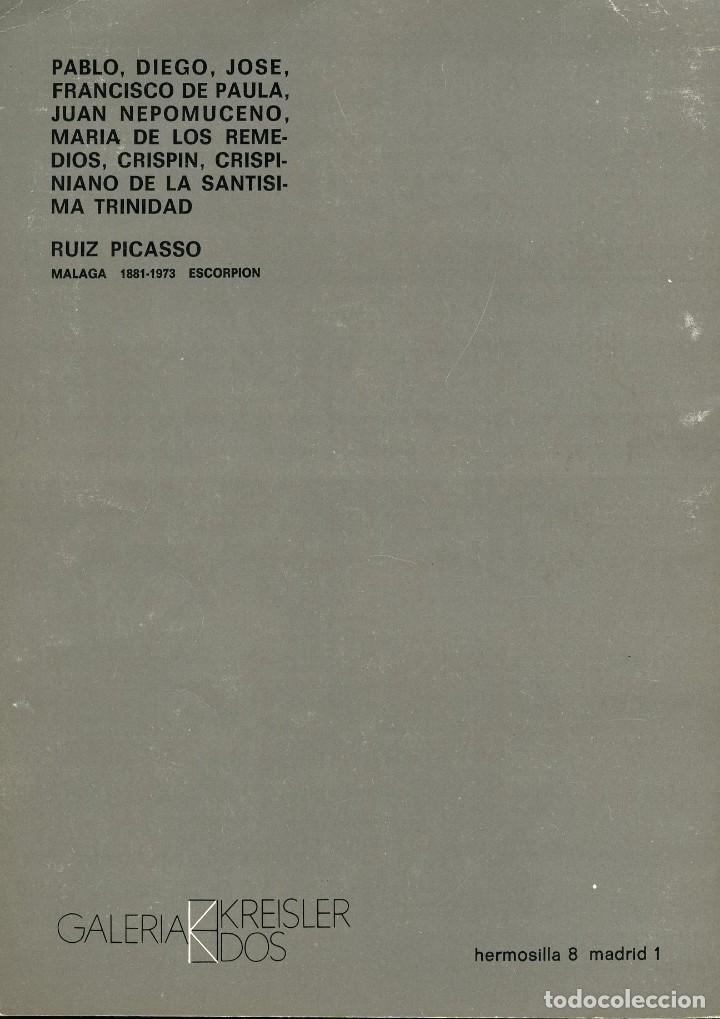 Libros de segunda mano: Homenaje a un artista. Picasso. Catalogo de la Galería Kreisler 2. 1973 - Foto 5 - 121904991