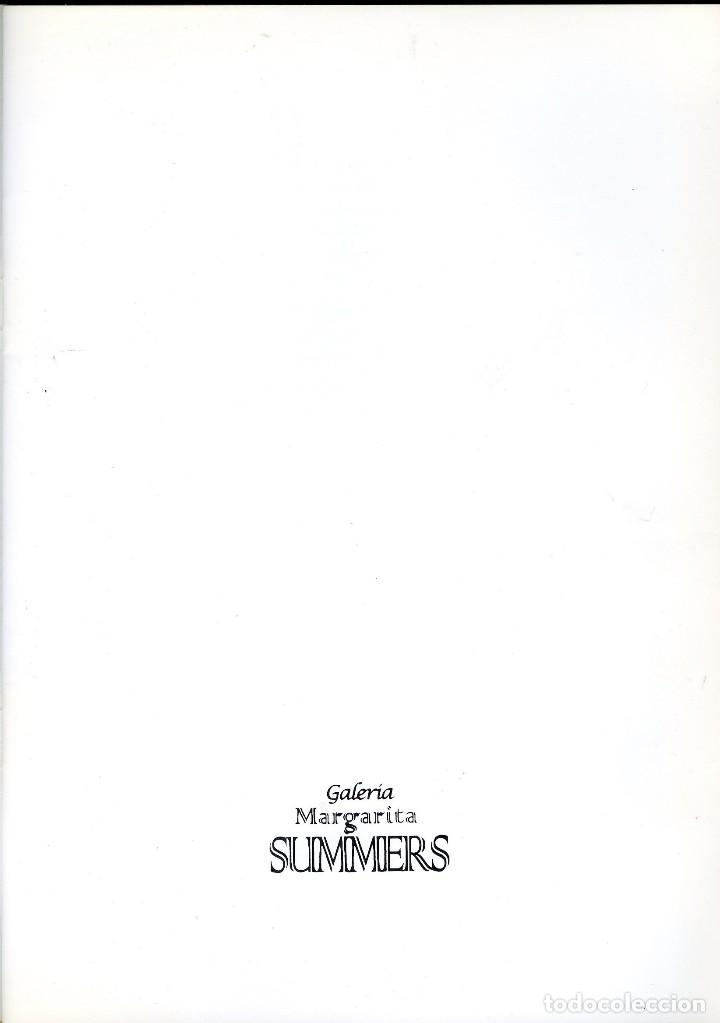 Libros de segunda mano: ANTONI TAPIES. CATÁLOGO DE LA GALERÍA MARGARITA SUMMERS. - Foto 2 - 121958291