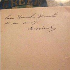 Libros de segunda mano: PROGRAMA DE FILOLOGÍA HISPÁNICA 1959.DEDICADO POR AMOR IÑIGO A DANIEL DEVOTO. Lote 122149279