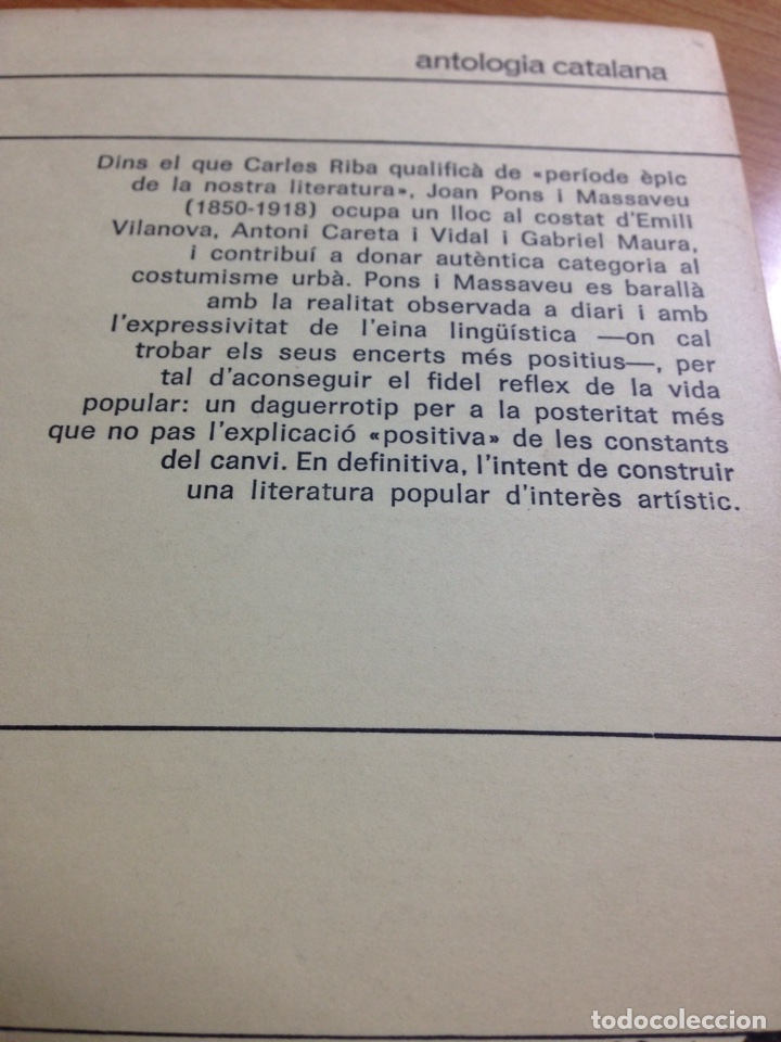 Libros de segunda mano: Joan Pons i Massaveu. Episodis populars catalans (a cura dO. Pi de cabanyes). - Foto 2 - 161184865