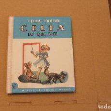 Libros de segunda mano: CELIA LO QUE DICE, ELENA FORTÚN, REEDICIÓN. Lote 122260671