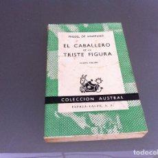 Libros de segunda mano: UNAMUNO. EL CABALLERO DE LA TRISTE FIGURA. Nº 417. AÑO 1963. Lote 122276199