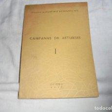 Libros de segunda mano: CAMPANAS DE ASTURIAS I.JOAQUIN MANZANARES RODRIGUEZ MIR.TABULARIUM ARTIS.OVIEDO 1957. Lote 122307911
