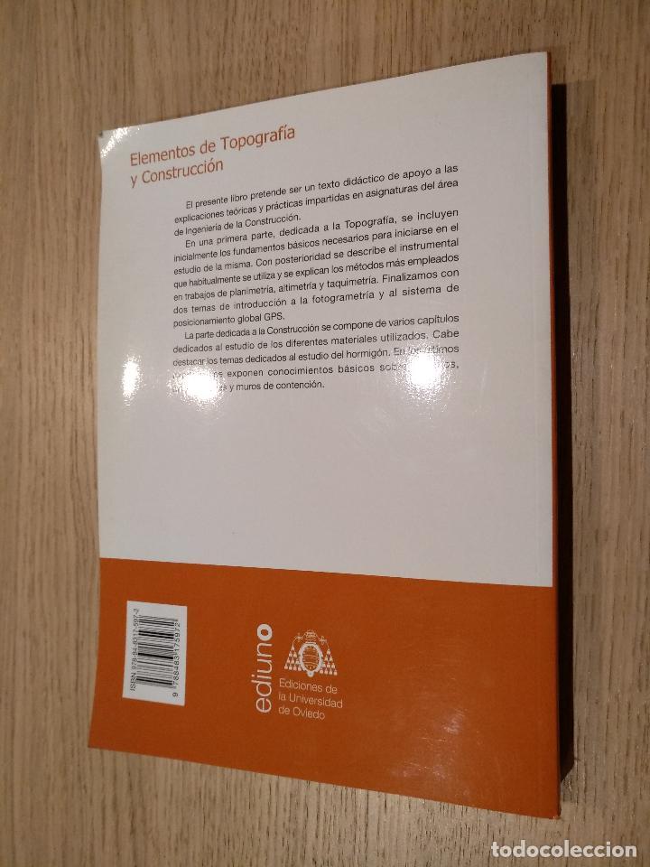 Libros de segunda mano: Elementos de topografía y construcción. López Gayarre, Fernando. López-Colina Pérez, Carlos - Foto 3 - 122488463