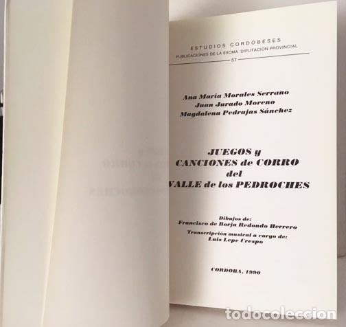 Libros de segunda mano: Juegos y canciones de corro del Valle de Los (Córdoba) Morales (Ilustraciones partituras - Foto 3 - 122569243