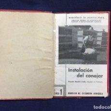 Libros de segunda mano: EL CONEJO (INSTALACION DE CONEJERAS,ALIMENTACION, PRODUCCION RAZAS PARA CARNE CONEJOS PIEL. Lote 122794047