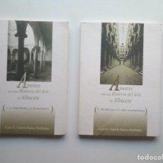Libros de segunda mano: APUNTES PARA UNA HISTORIA DEL ARTE DE ALBACETE (2 VOLS) - LUIS G. GARCÍA-SAÚCO BELÉNDEZ. Lote 122823231