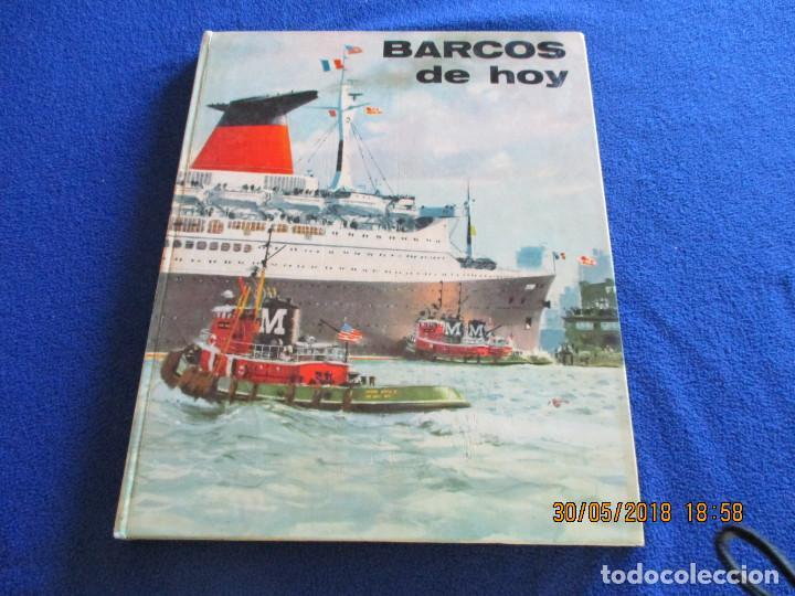 BARCOS DE HOY PLAZA&JANÉS 1967 TEXTO JEAN RIVERAIN (Libros de Segunda Mano - Ciencias, Manuales y Oficios - Otros)