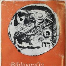 Libros de segunda mano: BIBLIOGRAFÍA DE LOS ESTUDIOS CLÁSICOS EN ESPAÑA (1956-1965). - MADRID, 1968.. Lote 123139911