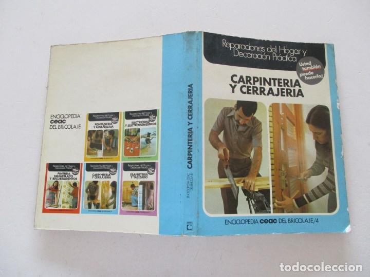 SANTIAGO PEY ESTRANY ENCICLOPEDIA CEAC DEL BRICOLAJE 4: CARPINTERÍA Y CERRAJERÍA. RMT86640 (Libros de Segunda Mano - Ciencias, Manuales y Oficios - Otros)