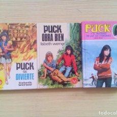 Libros de segunda mano: 3 LIBROS PUCK - PUCK SE DIVIERTE - PUCK OBRA BIEN - PUCK Y EL MISTERIO DE LAS 60 CORONAS. Lote 123885771