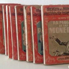Libros de segunda mano: LOTE BIBLIOTECA DE JUEGOS, PRESTIDIGITACIÓN E ILUSIONISMO, POR WHO? 16 TÍTULOS. ED. SINTES 1951-52. Lote 124012134