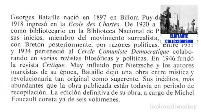 Libros de segunda mano: GEORGES BATAILLE - OBRAS ESCOGIDAS - EL ESPÍRITU DEL SIGLO XX - BARRAL - BUENA CONSERVACIÓN - Foto 7 - 124159991