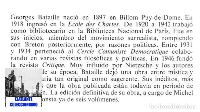 Libros de segunda mano: GEORGES BATAILLE - OBRAS ESCOGIDAS - EL ESPÍRITU DEL SIGLO XX - BARRAL - BUENA CONSERVACIÓN - Foto 8 - 124159991