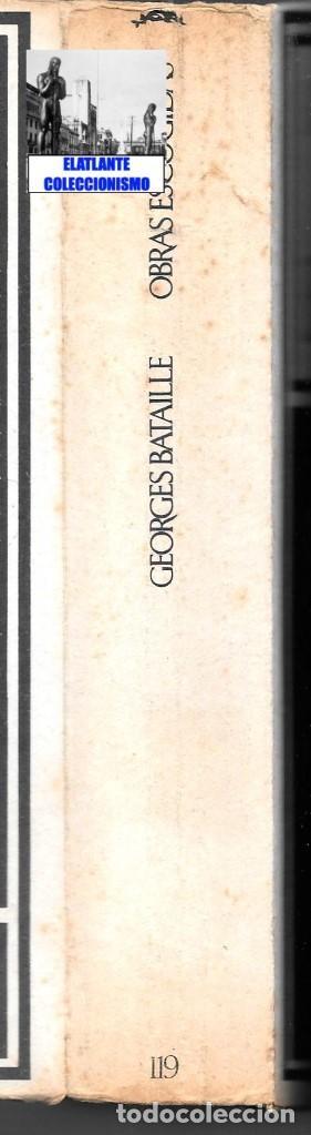 Libros de segunda mano: GEORGES BATAILLE - OBRAS ESCOGIDAS - EL ESPÍRITU DEL SIGLO XX - BARRAL - BUENA CONSERVACIÓN - Foto 9 - 124159991