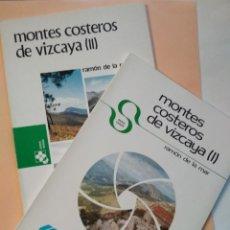 Libros de segunda mano: MONTES COSTEROS DE VIZCAYA (I Y II)- RAMÓN DE LA MAR - COLECCIÓN TEMAS VIZCAINOS. Lote 124315643