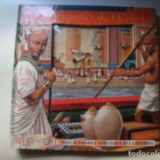 Libros de segunda mano: LOS FARAONES DE EGIPTO. VIAJA AL PASADO (BEASCOA, VIAJES EN EL TIEMPO, 1999). TROQUELADO POP-UP. Lote 124492463