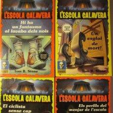 Libros de segunda mano: LOTE 4 LIBROS L'ESCOLA CALAVERA TOM B.STONE PLANETA. Lote 124558979